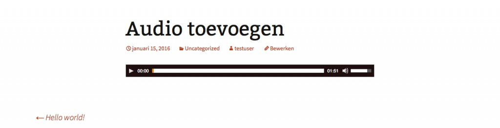 Audio toevoegen in WordPress